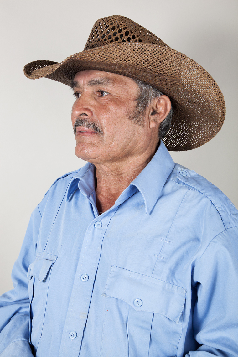 Portrait of farmworker Francisco Arevalo.