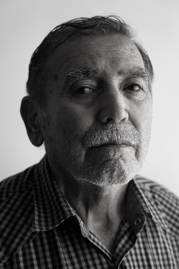 Portrait of former UFW member and publisher Leopodo Treviño Guerra.