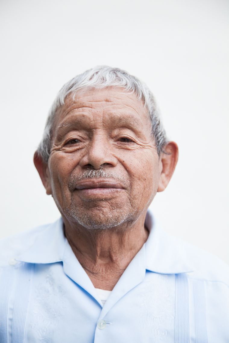 Close up portrait of former bracero Onesimo Edstrada.